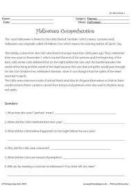 primaryleap co uk halloween comprehension worksheet