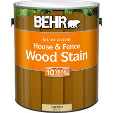 behr 1 gal deep base solid color house and fence wood stain 03001