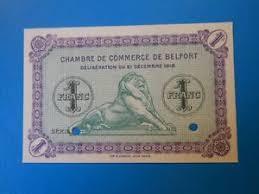 chambre du commerce belfort 90 belfort chambre de commerce 1 franc 21 12 1918 specimen ebay
