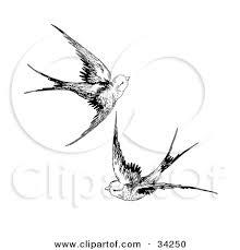 Bird Flying Tatoo Birds Flying Drawing Clipartxtras