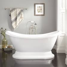 Which Is Better Cast Iron Or Acrylic Bathtubs Rosalind Acrylic Pedestal Tub Bathroom
