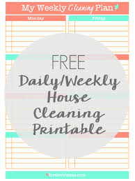 how to spring clean your house free daily weekly cleaning schedule printable