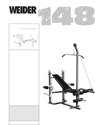 Home Gym Weight Bench Weider Home Gym 148 User Guide Manualsonline Com