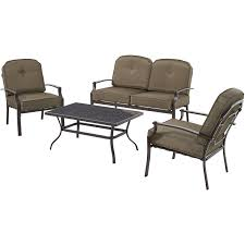 mainstays wentworth 4 piece patio conversation set seats 4