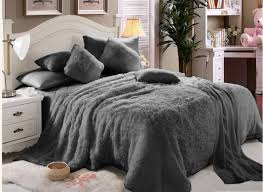 Faux Fur Comforter Queen Twin Bed Set On Queen Bedding Sets And Lovely Faux Fur Bedding
