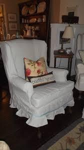 Ikea Slipcovered Sofa by Decorating Wingback Chair Covers Sofa Slipcover Wing Chair