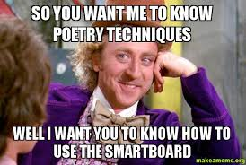 Poetry Meme - so you want me to know poetry techniques well i want you to know how
