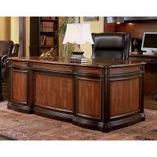 Big Desks by Venetian Worldwide Gorman Collection Two Tone Desk In Espresso