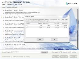 autodesk building design suite building design suite premium 2016 installation no disk space