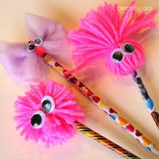 diy kids crafts crazy fun pencil toppers create it go