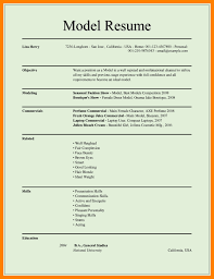 Modeling Resume Sample Resume Format For Articleship Business Resume Receptionist