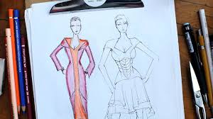 how to color a sketch fashion sketching youtube