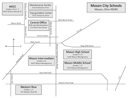 Map Of Mason Ohio by Directions Maps Mason City Schools