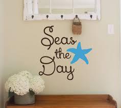 vinyl wall decal seas the day beach themed nautical beach zoom