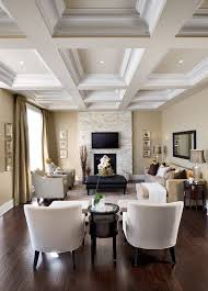 floor to ceiling stone fireplace living room traditional with