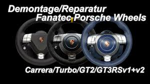 fanatec porsche wheels demontage reparatur gt3rs gt2 turbo