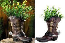Cowboy Boot Planter by Southwestern Planter Ebay