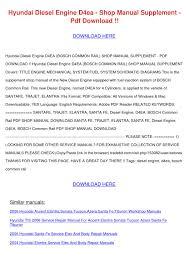 2006 hyundai elantra repair manual hyundai diesel engine d4ea shop manual supple by barbaraandre issuu