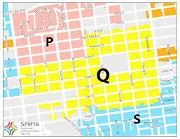 San Francisco Districts Map by Residential Parking Permit Rpp Area Q Map Sfmta