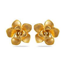 stud earrings online buy joyalukkas impress collection 22k yellow gold stud earrings