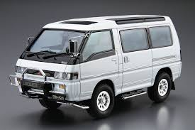 mitsubishi wagon aoshima 52334 the model car 27 mitsubishi p35w delica star wagon