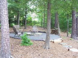 rustic patio with fence u0026 pathway in charlotte nc zillow digs