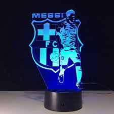 2017 3d laser engraving lionel messi led lamp with change effect