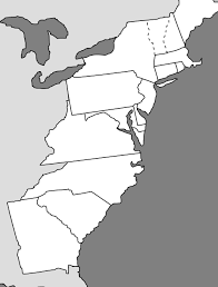 the thirteen colonies map the 13 colonies thinglink
