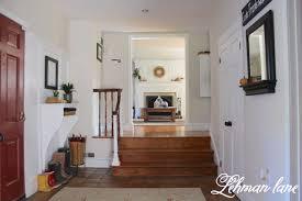 foyer entryway built in table lehman