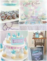 mermaid themed baby shower the sea baby shower cake toppers beautiful karas party ideas