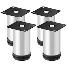 4pcs furniture cabinet legs adjustable stainless steel sofa tv bed