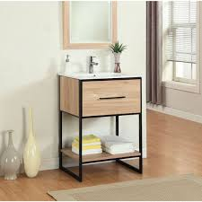 Metal Bathroom Vanity by Legion Furniture 24 Inch Maple Finish Single Sink Vanity With