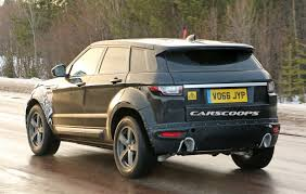 range rover evoque rear second gen 2018 range rover evoque mule keeps its secrets hidden