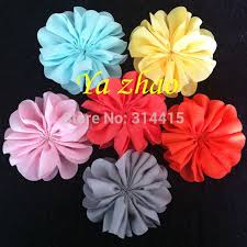 flowers for headbands 3 2 inch chiffon flowers diy fabric blossom flowers for headbands