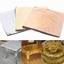 copper wrapping paper 100 sheets copper silver gold leaf foil wrapping paper for gilding