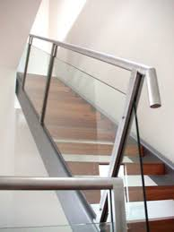 Banister Glass Modern Stair Railing Glass And Wood Simply In Modern Stair