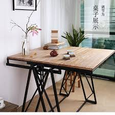multipurpose table with storage iron wood multifunction home modification table creative personality