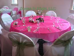 fuschia pink table cloth chair covers of lansing table decorations