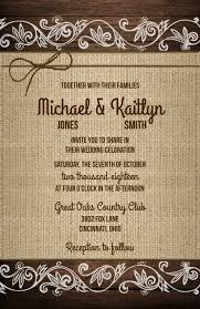 wedding invitations rsvp cards wedding invitations wood burlap lace twine 10 invitations rsvp