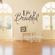 popular kids quote wall decals buy cheap kids quote wall decals life is beautiful quote wall sticker bedroom living room family love quote wall decal kids room
