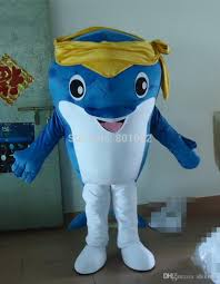 ohlees cute yellow and blue little whale cartoon mascot costumes