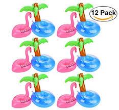 flamingo drink holders outgeek 12 pcs palm tree and
