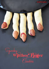 eggless spooky witches u0027 finger cookies spill the spices
