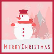 clipart snowman merry christmas card