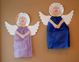 that artist woman tissue paper angels
