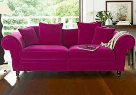 canap camif canapé 3 places velours fuchsia camif pink sofas canapés