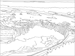 waterfall 18 nature u2013 printable coloring pages
