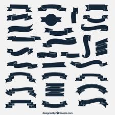 navy blue ribbon navy blue ribbons collection vector free