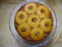 pineapple upside down cake with vanilla sauce kiku corner