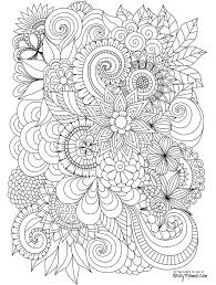 free advanced flower coloring pages adukts coloring